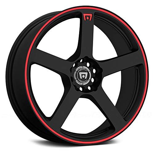 Motegi Racing MR116 Matte Black Finish Wheel with Red Accents (17×7″/5x100mm)