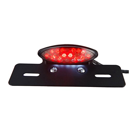TASWK Motorcycle Tail Brake Stop License Plate Light LED Integrated Taillight Brake Light Red & - Light Motorcycle Tail