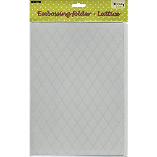 Ecstasy Crafts Nellie's Choice Embossing Folder, A4-Lattice HSF012