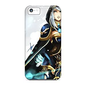 New Premium Flip Case Cover Ashe The Archer Skin Case For Iphone 5c