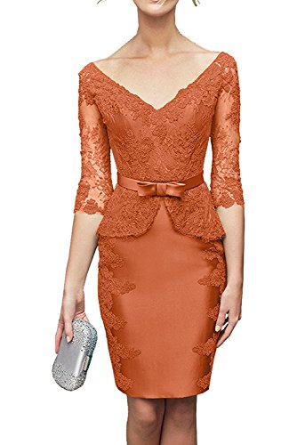 Vestido para naranja mujer Topkleider Estuche XOqqS