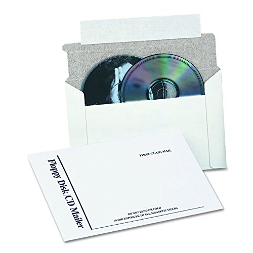 Quality Park E7265 Foam Lined Multimedia Mailer, 8 1/2 x 6, White (Box of 25) (Foam Lined Cd Mailers)