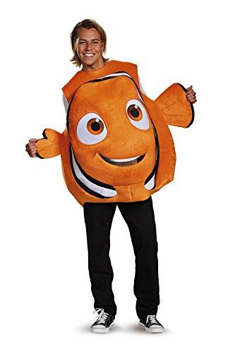 Disney Mens Finding Dory Nemo Costume, Orange, One Size