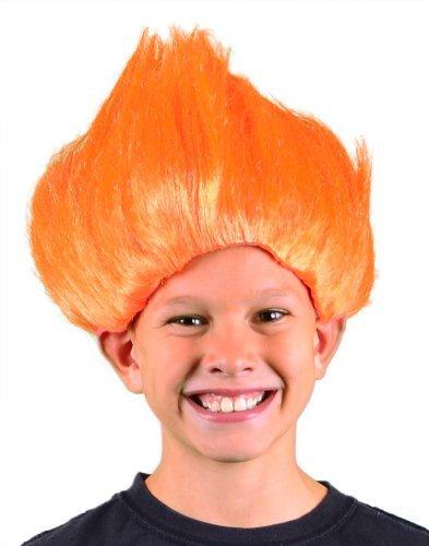 Bargain mi traje Pelucas de Boy Troll peluca (naranja) Talla Única