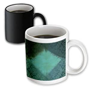 PS Creations - Diamond Shape Decorative Green Art - 11oz Magic Transforming Mug (mug_63481_3)