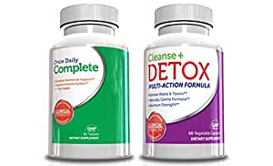 Best Cleanse and Detox Weight Loss Kit w/ Multivitamin, Includes Garcinia Cambogia Extract 180 Capsules (Value Size) and Daily Multvitamin 90 Tablets Supplement 60 Capsules, Multivitamin for Men, Multivitamin for Women, Daily MultiVitamins and Minerals, Helps Increase Energy,Detox and Cleanse Body