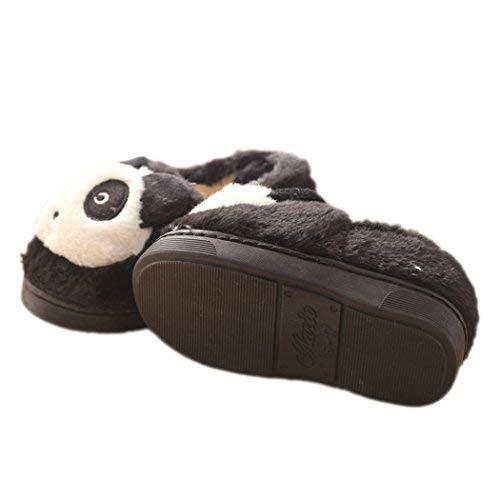 Panda Bas Chaussons Noir Hiver Femme xwgaB