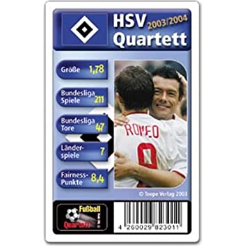Fussball Quartett Hamburger Sv Amazon De Spielzeug