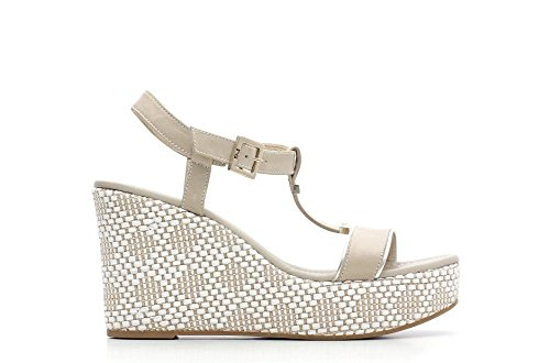 Nero Giardini Sandale mit Keil Frau Leder Artikel P615600D 410 Beige P6 15600 D