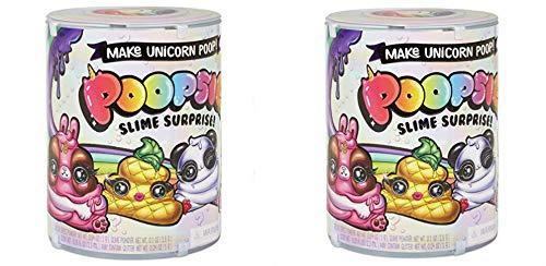 Poopsie Slime Unicorn Surprise Poop Pack Series 1 ( 2 Pack ) Multicolor Plus Bonus Handmade Shopkin Ornament