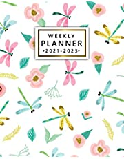 2021-2023 Weekly Planner: Beautiful 3 Year Agenda, Diary, Calendar | Girly Pink Three Year Organizer with To Do Lists, Vision Boards, Notes, Holidays | Sweet Floral Dragonfly Print