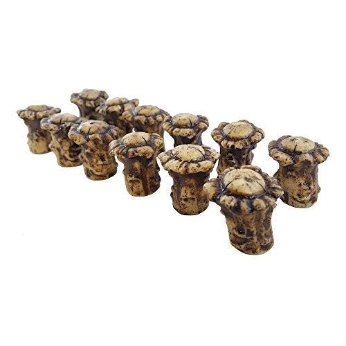 Pine Ridge Antler Drawer / Cabinet Knobs (Pack of 12) Knob Pulls with Screws. Antler Decor