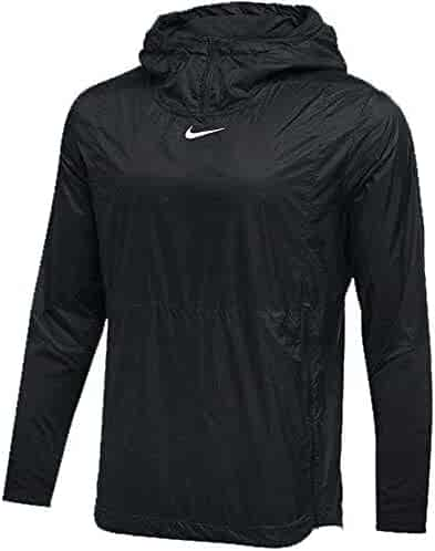 56036e2b0411 Nike Mens Authentic Collection Lightweight Fly Rush Jacket Black White Size  Medium