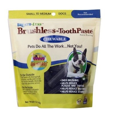 Chewable Toothpaste Brushless (Ark Naturals Breath-Less Brushless Chewable Toothpaste for Small to Medium Dogs (60 Case))