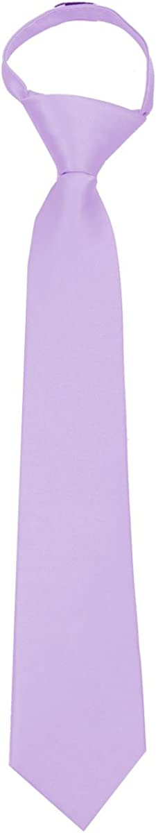 Solid Satin Boys 11 Inch Zipper Necktie Ties for Formal Events Parties and Weddings Many Colors Available