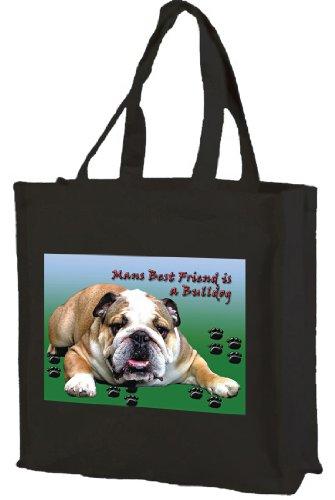 British British British Black Bulldog Shopping Cotton Cotton Bag Cotton Tote Bulldog Tote Bulldog Shopping Black Bag RaHdRwq
