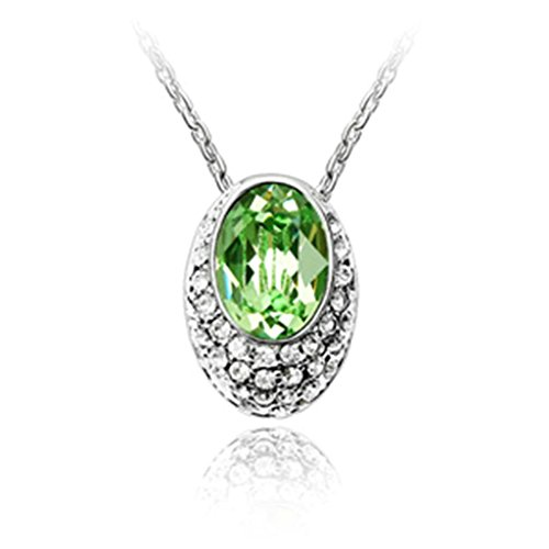 Adisaer Gold Plated Pendant Necklaces for Women Cubic Zirconia Oval (Avery Brass Pendant)