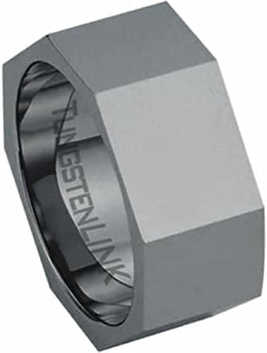 Tungsten Carbide Ring - Polished Finish Nut Design
