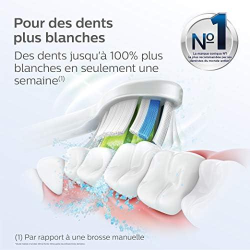 Philips Sonicare HX6066/10 Pack têtes de brosse à dents, DiamondClean, Optimal White W2 (Blanc) avec BrushSync (X6)