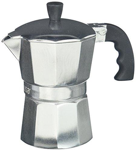 IMUSA USA - Cafetera de aluminio con 3 tazas, Plateado, 3 Tazas, 1