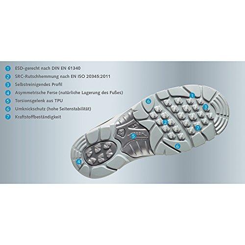 Abeba ESD-S-Schuh anatom Stiefel weiss, Mikrofaser KLETT, CE, EN ISO 20345:2011, S3, Gr. 38