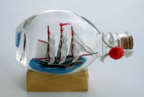 Beachcombers Boat or Ship in Pinch Bottle