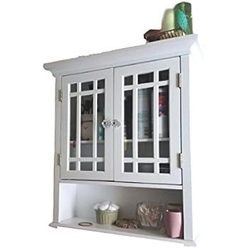 Amazon Com Farmhouse Bathroom Storage White Wall Mount
