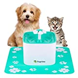 Truprimo Pet Water Fountain – Automatic Water Dispensing Fountain for Dogs and Cats – Healthy and Hygienic Replaceable Filters – Silent and Practical – Low Consumption – 2 Liters Capacity