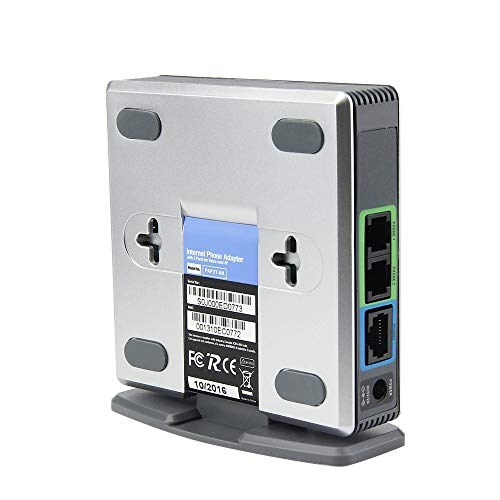 Nstcher Unlocked PAP2T-NA SIP VOIP Phone Adapter 2 Port Internet Phone EU Adapter SWTG from Nstcher Accessories