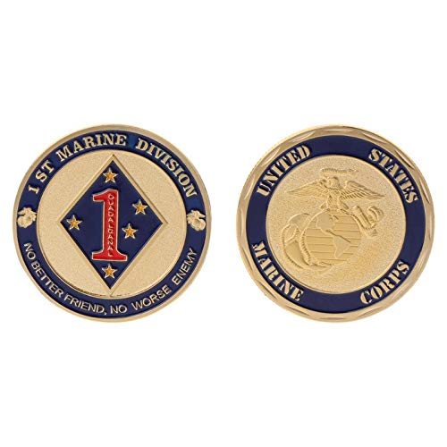 Non-currency Coins - Commemorative Coin Marine Corps 1th Division Collection Art Gift Souvenir - Satchel Coin Coin Army Badge Game Bar The Non-currency Medallion Jacket 101st Corp Coin - Division Military Jacket