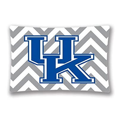 "Generic 20""x30"" NCAA Zippered Pillowcase Pillow Cases Cover Kentucky Chevron Print (twin side)"