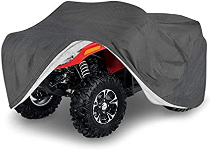 Small Fits Vehicles up to 77 Inches Motorup America ATV Cover 5 Layer Water-Proof Protection