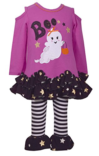 Bonnie Jean Girls' Toddler Holiday Dress and Legging Set, Fuchsia Ghost, 3T -