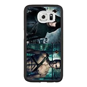 Generic Fashion Hard Back Case Cover Fit for Samsung Galaxy S6 Cell Phone Case black Green Arrow with Free Tempered Glass Screen Protector STR-3304618