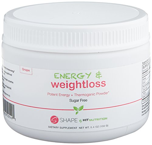 HIT Shape Energy Plus Weight Loss Powder, Thermogenic Powder Boosts Overall Health and Increases Energy, 30 Servings
