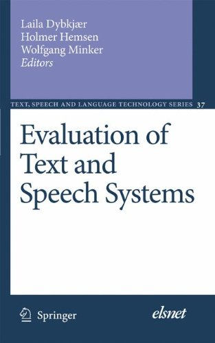 Evaluation of Text and Speech Systems (Text, Speech and Language Technology) by Brand: Springer
