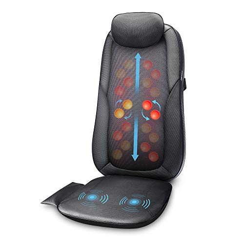 Shiatsu Back Massage seat Cushion with Heat 2D or 3D Finger Pressure Shiatsu Full Back Massager Massage Chair Pad for Home Office Use