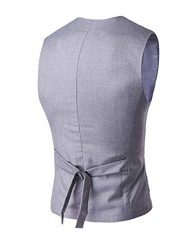 Rot Business Uomo Casual Solid Haidean Color Leisure Fashion Vest Modern The vHpwpzq