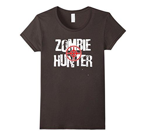Womens Halloween costume ZOMBIE HUNTER t-shirt Small (Woman Hunter Halloween Costume)
