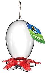 More Birds Plastic Oblong Shaped Bottle Joy Hummingbird Feeder with Five Feeding Stations, 28 Fluid Ounce Capacity