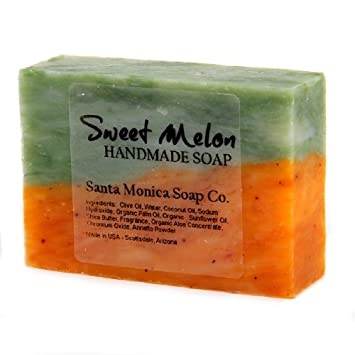 Santa Monica Soap Co  Handmade Soap - Sweet Melon with Aloe