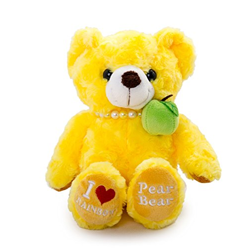 Vobell Plush Pear Bear Yellow Stuffed Toy For Children (Yellow Soft Bear)