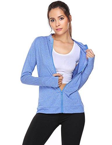 COSBEAUTY Unibelle Women Dri-fit Workout Jacket, Zip Up Stretchy Active Raglan Running...