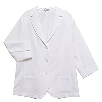 ERFO - Chaqueta de traje - para mujer rosa blanco 18: Amazon ...