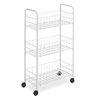 Whitmor 3 Tier Small Wire Rolling Cart