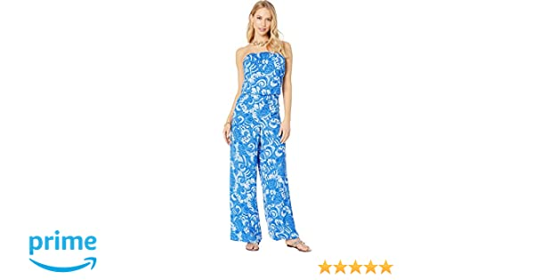 4f2c25ec45111 Amazon.com: Lilly Pulitzer Women's PIM Jumpsuit Blue Grotto So Offishal  X-Large: Clothing
