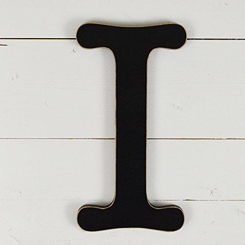 UNFINISHEDWOODCO 11.5'' Typewriter Wall Decor Letter I- Black