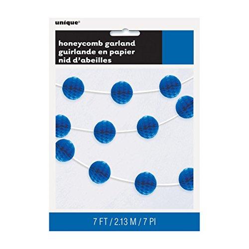 Royal Blue Honeycomb Ball Garland