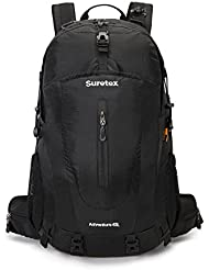 Suretex Hiking Backpack 35Liter/45 Liter Camping Outdoor Shoulder Daypack With Rain Cover Detachable Unisex