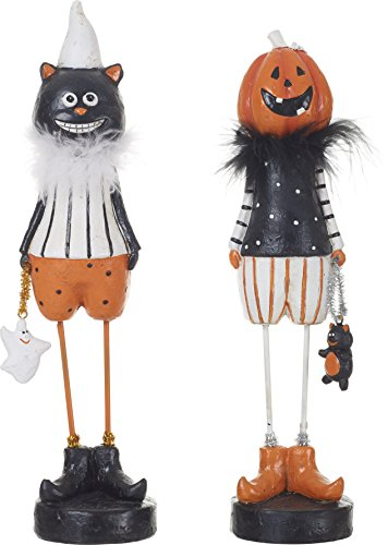 Black Cat and Pumkin Friends 12 inch Resin Stone Halloween Figurines Set of (Halloween Decorations Rentals)